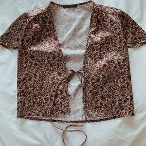Floral cover up blouse